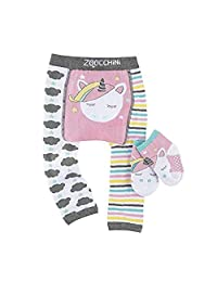 Zoocchini Legging & Sock Set, Allie The Alicorn, 6-12 Months