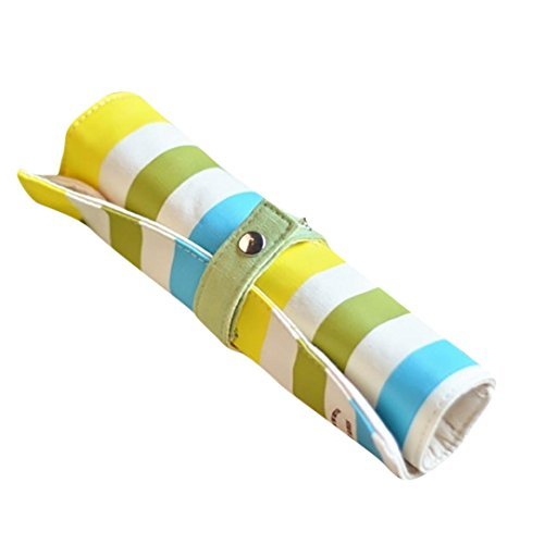 Clearance Sale! Wintialy Color Striped Fabric Rainbow Roll Pen Case School Supplies Gift