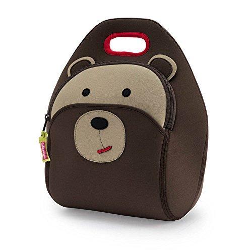 (Dabbawalla Bags BRLB Bear Lunch Bag One Size Brown)