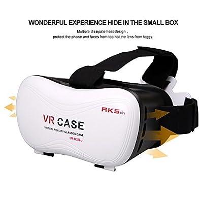 Vanilia VR Headset Virtual Reality 3D Glasses Helmet Ajustable VR Case Box for iPhone 6/6S/6S plus Samsung Galaxy S7 S6 S5 Smartphones