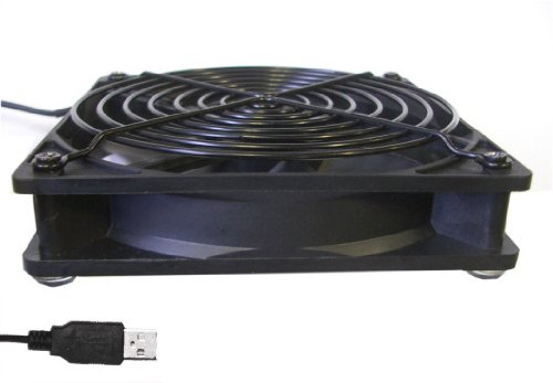 Coolerguys Single USB Fan for Playstation, Xbox, Receivers, Roku (120mm)