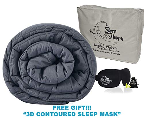 Cheap Sleep Happy Products Cool Cotton Weighted Blanket for Adult | Queen Size 15lbs | 60