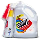 Shout Stain Remover with Extendable Trigger Hose -128 Oz + 22 Oz. (3)