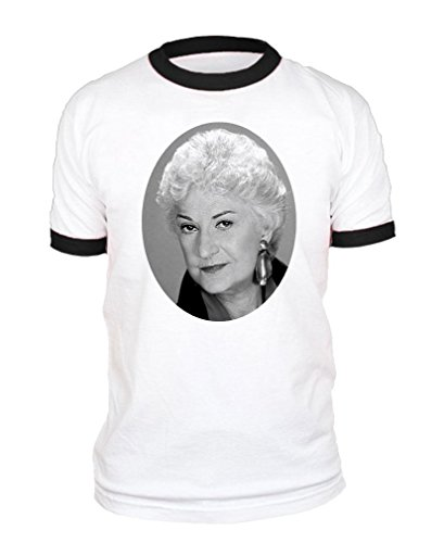 (The Goozler Golden Girls Pool Funny Movie Reference - Cotton Black Ringer TEE, M )