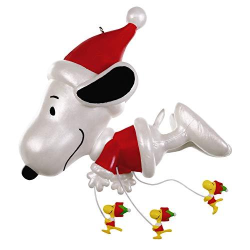 Hallmark Keepsake Christmas Ornament 2019 Year Dated The Peanuts Gang Fly Parade, Snoopy Balloon (Christmas Charlie Hallmark Brown Ornaments)