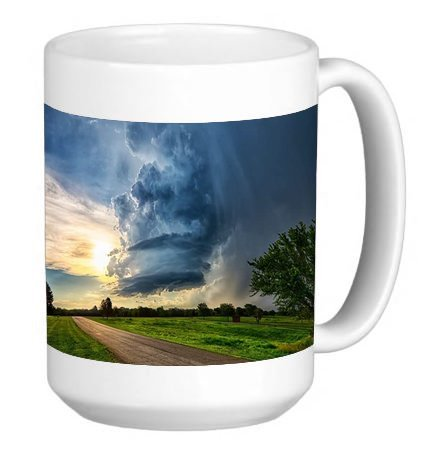 Field Tornado 15 ounce Ceramic Coffee Mug Tea Cup