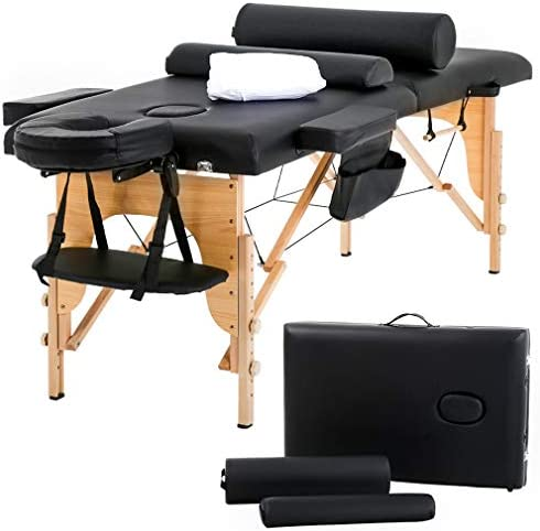 Massage Table Massage Bed Spa Bed 73 Heigh Adjustable 2 Folding Portable Massage Table W Sheet Cradle Bolsters Hanger Facial Salon Bed