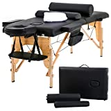 "2"" Pad 84"" Burgundy Massage Table Free Carry Case Bed Spa Facial"