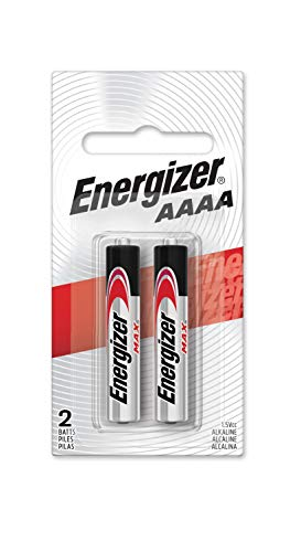 Energizer Alkaline Batteries AAAA (2 Battery Count) - Packaging May Vary (4a Batteries)