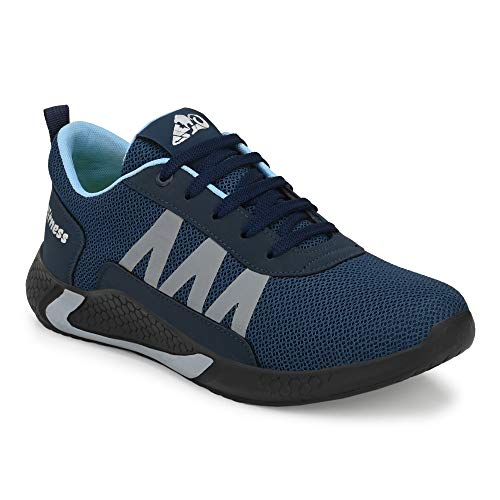 Leo Light Weight Breathable Knitted Mesh Antislip-on-Sports Shoes for Jogging, Cycling,Running, Training,Gymming