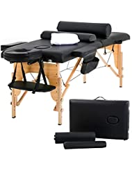"""Massage Table Massage Bed Spa Bed 73"""" Heigh Adjustable 2 Folding Portable Massage Table W/Sheet Cradle Bolsters Hanger Facial Salon Bed"""