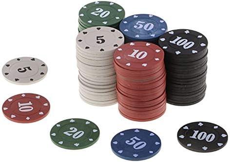 100st Ronde Plastic Chips Casino Poker Kaartspel Chips Card Decks For Fun Family Club Game Poker Chips