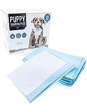 Tapis absorbants pour dresser votre chien - Alèse pour dresser les animaux de compagnie - Tapis ULTRA ABSORBANT de 6 épaisseurs et 4 bandes adhésives - Absorbe jusqu'à 1200 ml - Pack de 50