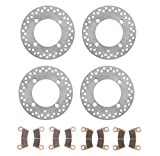 2018 Polaris 1000 RZR S EPS Front and Rear Brake Rotors Discs and Brake Pads