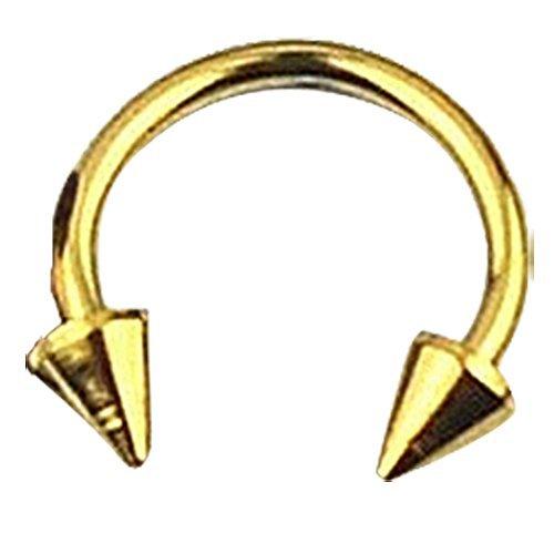 LUQUAN Circular Barbell Eyebrow Ear Lip Nose Tragus Nipple Horseshoe Bar Ring Titanium