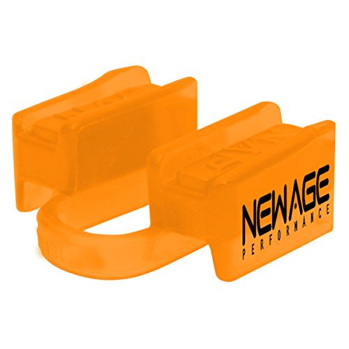 New Age Performance 6DS Sports And Fitness Weight-Lifting Mouthpiece - Lower Jaw - No-Contact - Includes Case - Orange