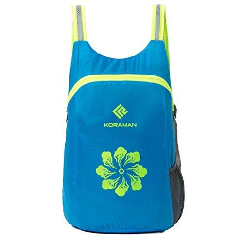 Z&N Poliéster impermeable hombres y mujeres mochila de deportes al aire libre bolsa ligera paquetes de secado rápido plegable mochila de viaje impermeable de montaña mochila de senderism Backpackblack blue