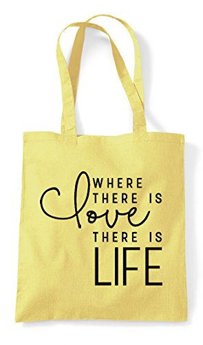 Tote Love Statement Shopper Is Lemon Life Where There Bag UxUHZ