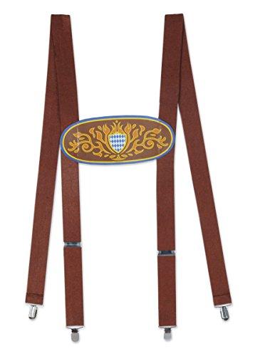 Beistle 60660 Bavarian Suspenders, OSFM, Multicolor -
