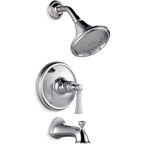 KOHLER Elliston Polished Chrome 1-Handle Bathtub and Shower Faucet with Single Function Showerhead by KOHLER by Kohler