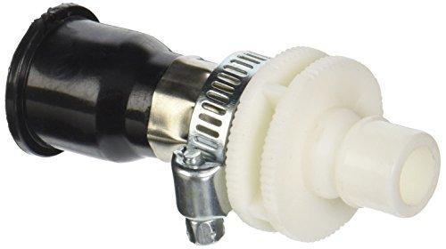 eDealMax Black Water tubo di alimentazione connettore accoppiatore per lavatrice, Bianco