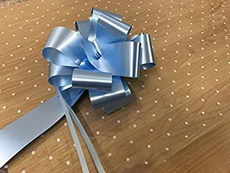 2m X 80cm White Dot Cellophane Wrap Folded Including 1 X Baby