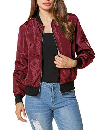 ZANZEA Ladies Celeb Collar Bomber Jacket Vintage Zip Up Biker Slim Coat Short Outerwear Red 16/ Tag XXL