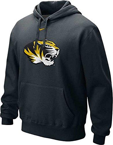 Hockey Nike Jacket - Nike Missouri Tigers Applique Big Logo Fleece Pullover Men's Hoodie (Black, Medium)
