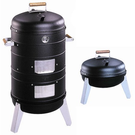 Meco Southern Country Smoker 2-in-1 Charcoal Water Smoker with 2 Levels of (Infrared Portable Smoker)