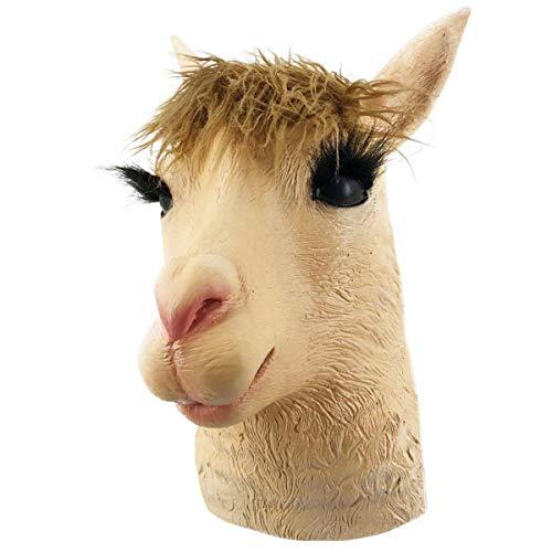 Llama Alpaca Latex Animal Halloween Mask Novelty Costume Full Head Masks -