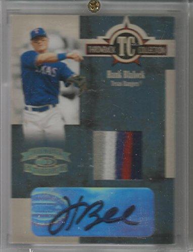2005 Throwback Threads Baseball Hank Blalock Patch Autograph Card # 2/5 (CSC)