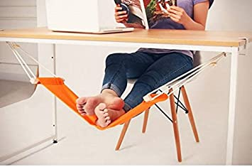 foot hammock desk mini stand hanging swing under desk off orange amazon    foot hammock desk mini stand hanging swing under desk      rh   amazon