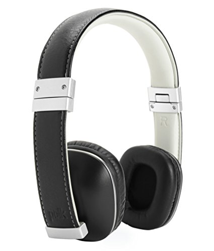 Polk Audio Hinge Headphones - Black/Silver - with 3 button remote and in-linemicrophone