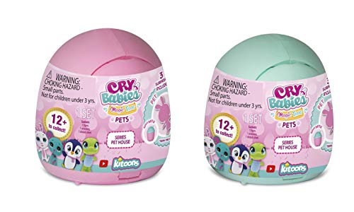 Cry Babies Magic Tears Pet House, Pack of 2