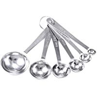 6pcs set stainless steel Collapsible Folding Measuring Cup and Spoon Set