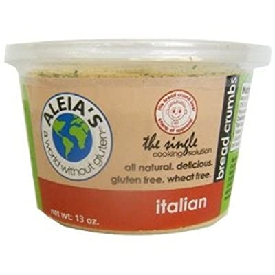 Aleia's Gluten Free Foods Bread Curmbs, Italian, Gf, 13-Ounce (Pack of 4)