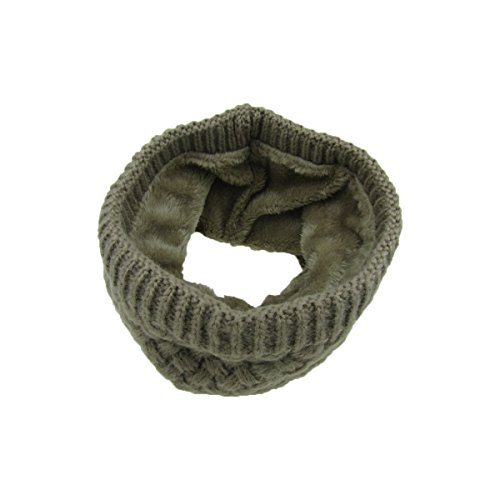 Pure wool knitted scarf and a couple of autumn and winter with a velvet scarf by Mo-Magic