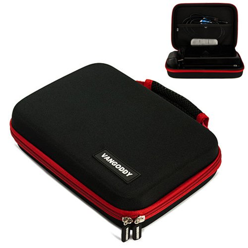 External Hard Drive Harlin Carrying Case to fit the Seagate Expansion Desktop STBV2000100 with a Red trim for a professional look, Plus all in one Storage space, Best Gadgets