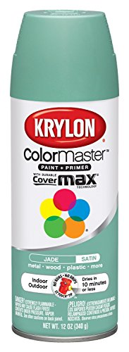 Krylon K05350907  Jade 'Satin Touch' Decorator Spray Paint - 12 oz. Aerosol
