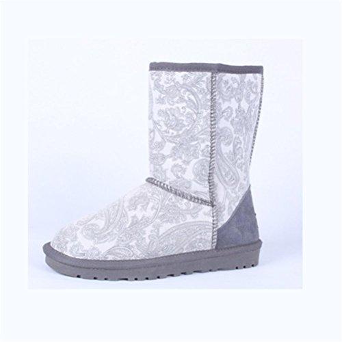 scarpe nel Neutro 48 da gray piatto femminile di donna impermeabile tail neve scarpe tubo speciale mantenere stivali QPYC dimensioni 34 grandi uomini caldo stivali colore R4dxqq5