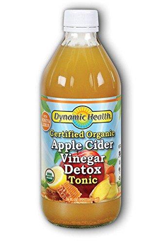 Dynamic Health Certified Organic Apple Cider Vinegar Detox Tonic, 16 Ounce