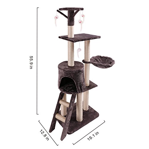 Hoddmimis-Cat-Activity-Tree-Scratching-Posts-for-Cats-with-Dangling-Mouse-B223Grey