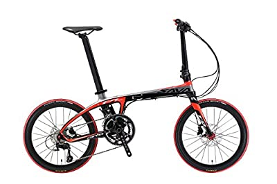 "20"" Carbon Folding Bike Shimano 22 Speed light weight hybrid bike"