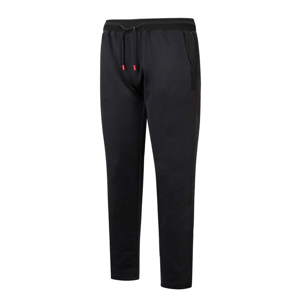 LandFox,Mens Fashion Pure Color Trousers Pants Casual Holes Pants Sweatpants,Black,