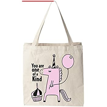 "You Are One Of A Kind (Unicorn) - Natural Cotton Canvas 12 Oz Reusable Tote  Bag (11""X14""X5"") fcc20a5ef3806"