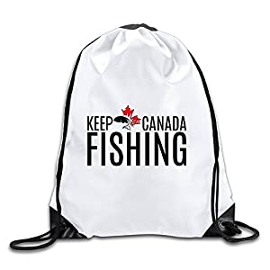 BENZIMM Keep Canada Fishing Drawstring Backpacks/Bags