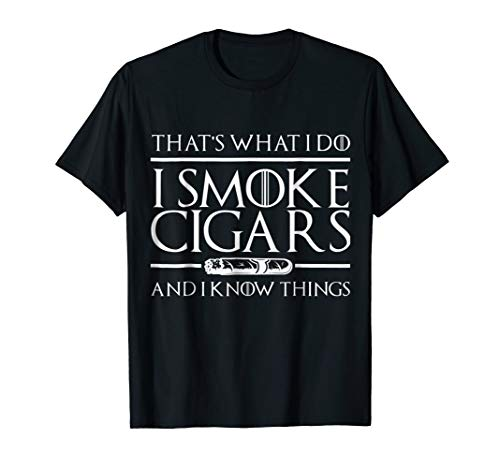 - I Smoke Cigars Shirt For Cigar Lovers | Tee For Men, Women.