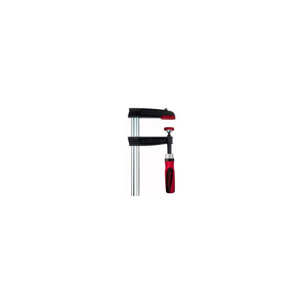 Bessey TPN40S12BE-2K Screw Clamp Tpn-Be-2K 15.75In/4.72In of Cast-IRON, Black/Red/Silver