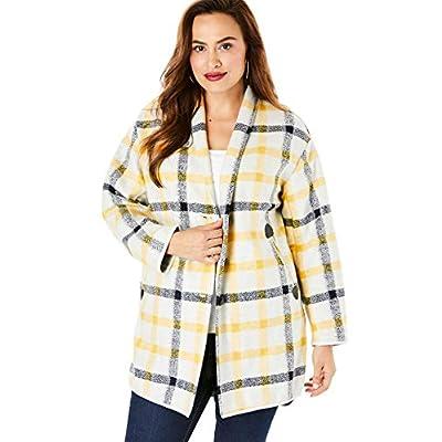 Roamans Women's Plus Size Plaid Car Coat at Women's Clothing store