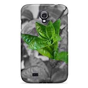 New Green Leaves Case Cover, Anti-scratch Jeffrehing Phone Case For Galaxy S4